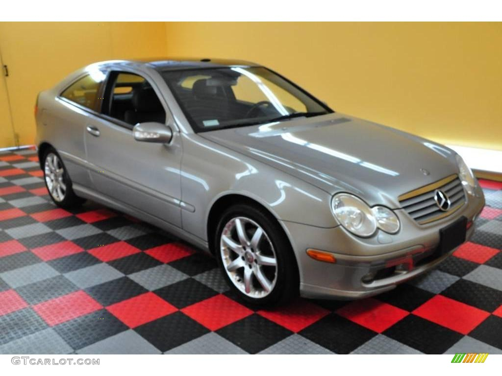 2003 pewter silver metallic mercedes benz c c320 sport coupe 16136071 car. Black Bedroom Furniture Sets. Home Design Ideas