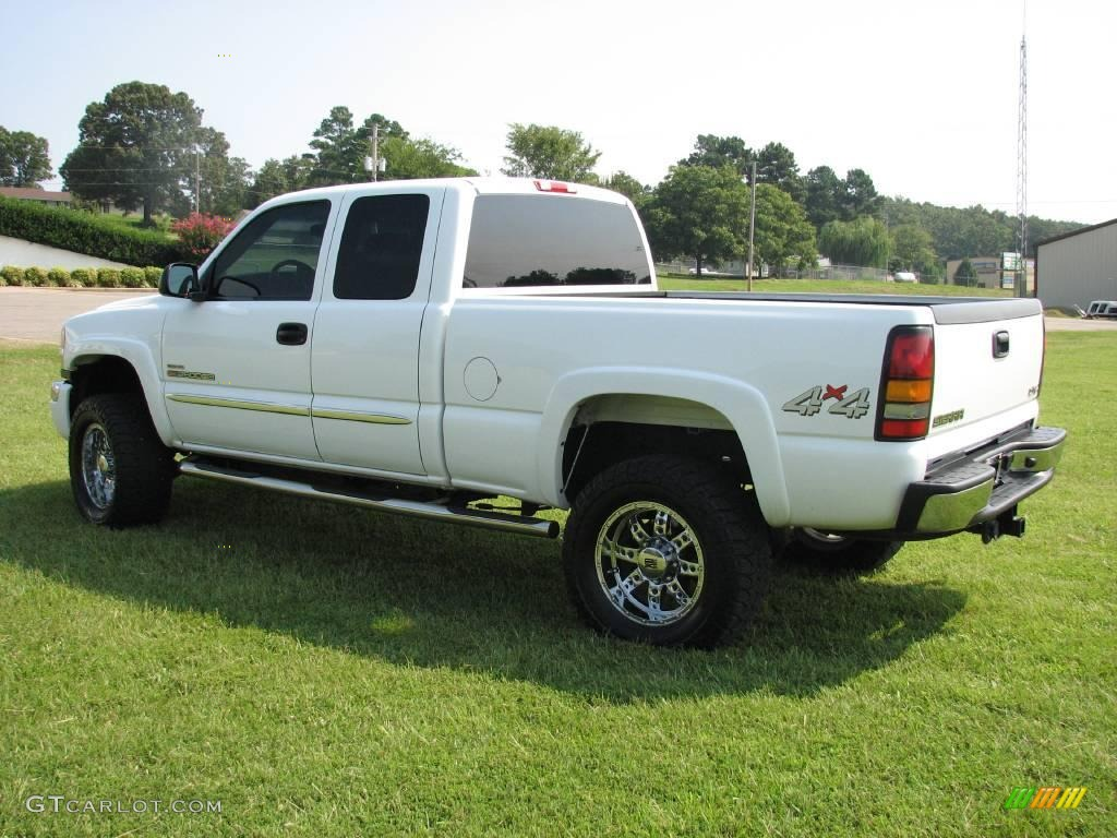 2004 summit white gmc sierra 2500hd slt extended cab 4x4 16132227 photo 6 car. Black Bedroom Furniture Sets. Home Design Ideas