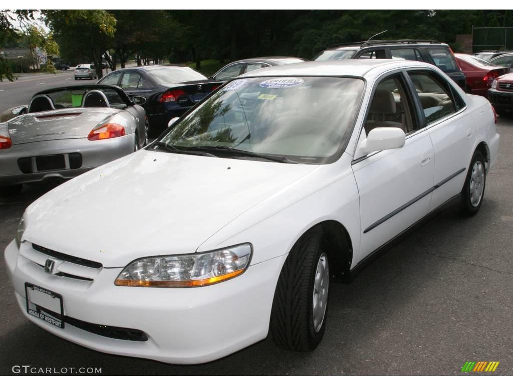 1998 taffeta white honda accord lx sedan 16146232 car color galleries. Black Bedroom Furniture Sets. Home Design Ideas