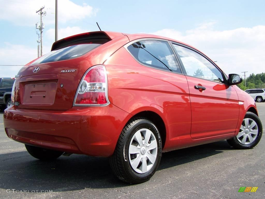 2007 tango red hyundai accent gs coupe 16096189 photo 6. Black Bedroom Furniture Sets. Home Design Ideas