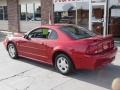 2001 Laser Red Metallic Ford Mustang V6 Coupe  photo #4