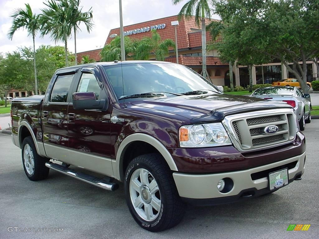 2008 redfire metallic ford f150 king ranch supercrew 4x4 16218219 car color. Black Bedroom Furniture Sets. Home Design Ideas