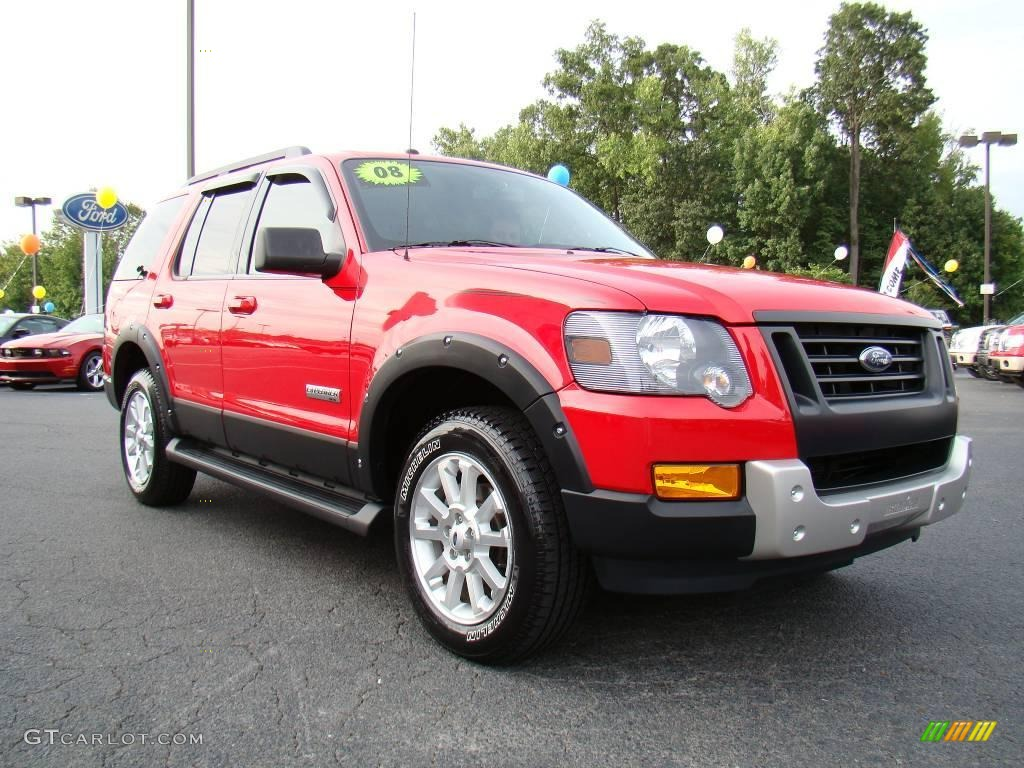 2008 Colorado Red Ford Explorer XLT Ironman Edition ...
