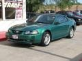 2000 Electric Green Metallic Ford Mustang GT Coupe  photo #14