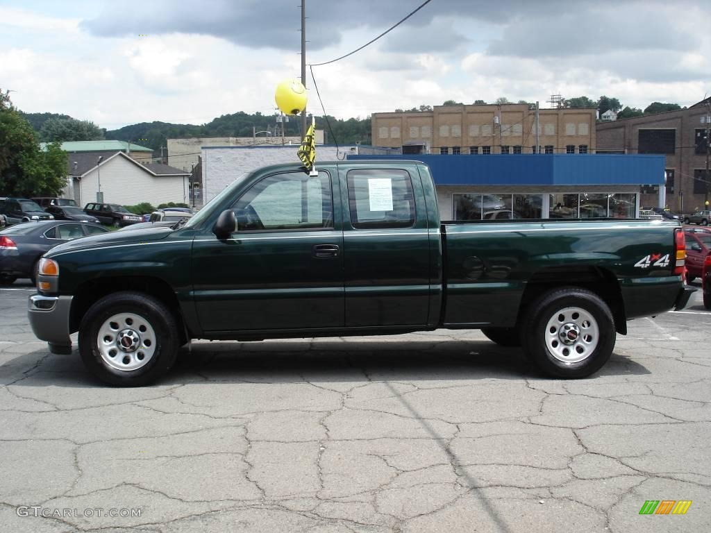 2005 polo green metallic gmc sierra 1500 work truck extended cab 4x4 16268166 photo 5. Black Bedroom Furniture Sets. Home Design Ideas