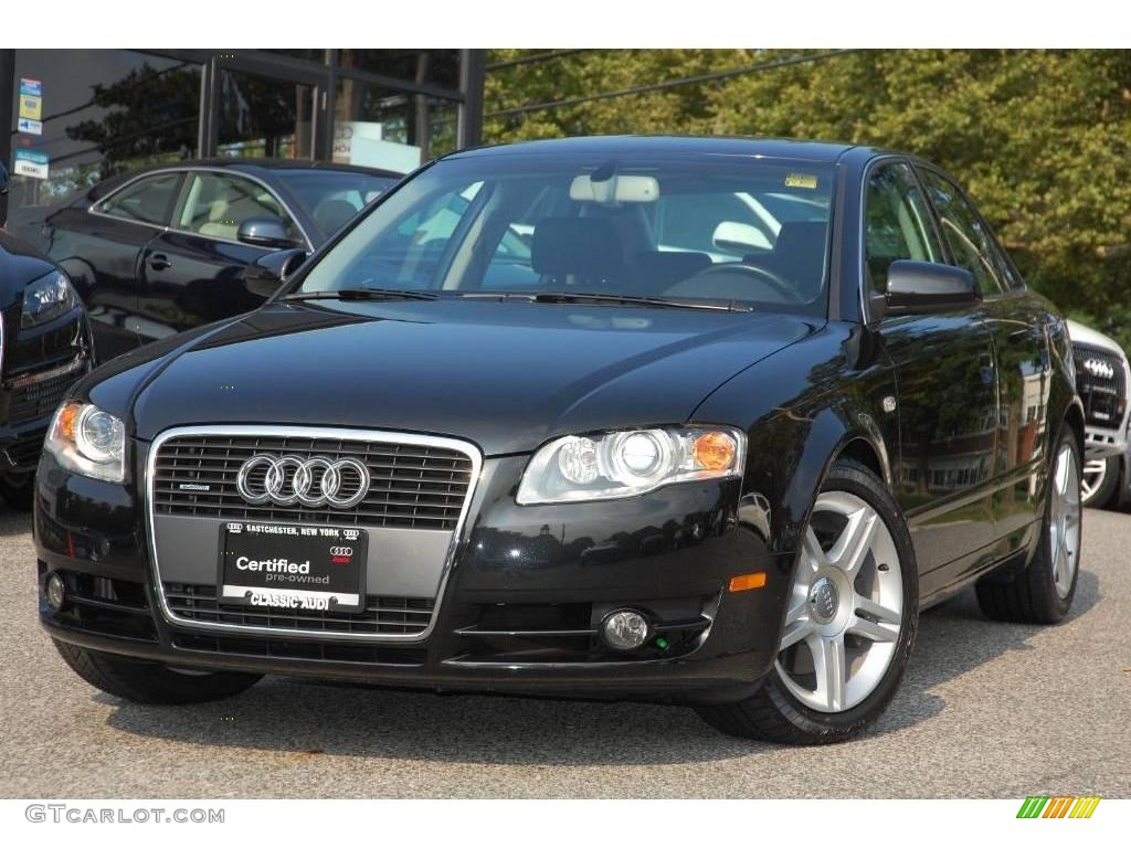 2007 phantom black pearl effect audi a4 2 0t quattro sedan 16275621 car color. Black Bedroom Furniture Sets. Home Design Ideas