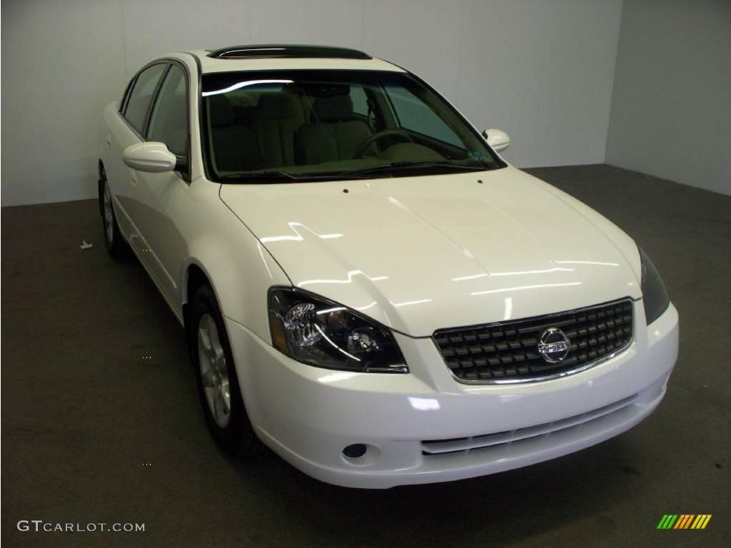 2006 satin white pearl nissan altima 2 5 sl 16221439 car color galleries. Black Bedroom Furniture Sets. Home Design Ideas