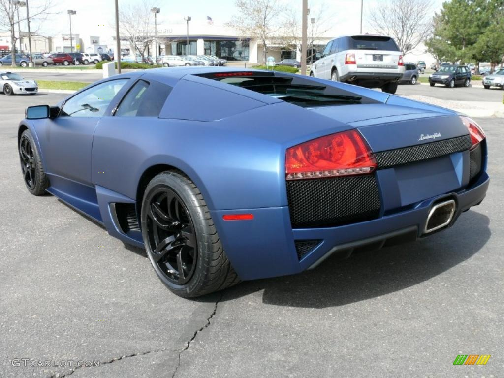 2009 Matte Blue Lamborghini Murcielago Lp640 Coupe 16315443 Photo