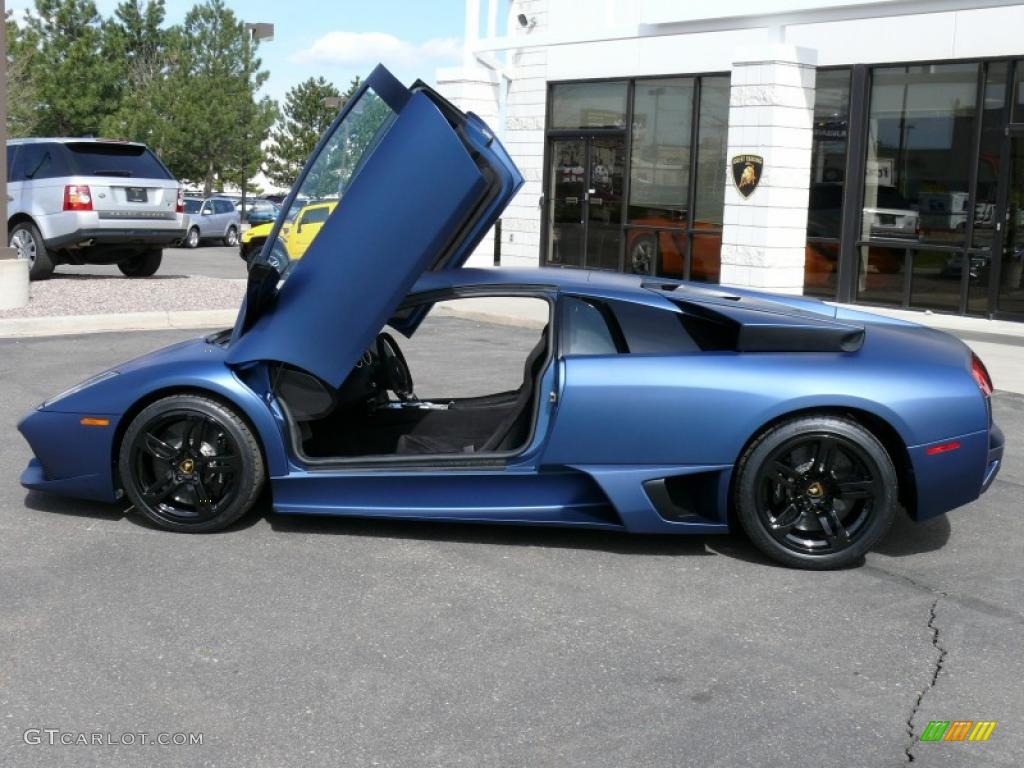 2009 lamborghini murcielago lp640 coupe matte blue color black - Lamborghini Black And Blue