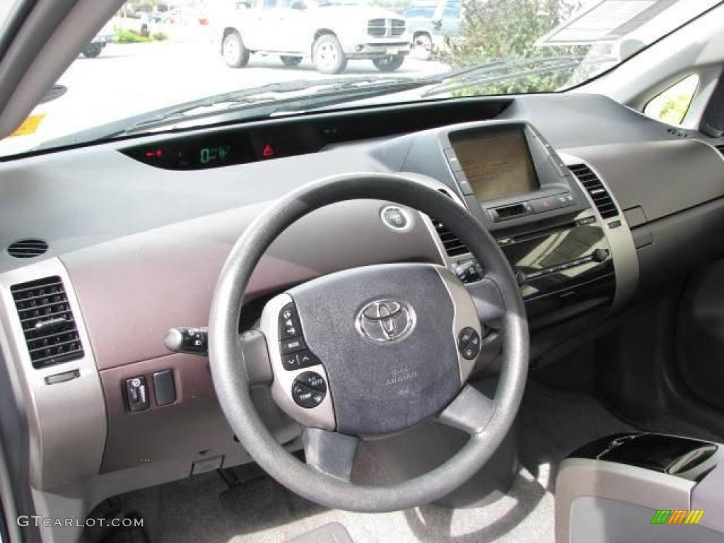 2004 Prius Hybrid Super White Burgundy Gray Photo 10