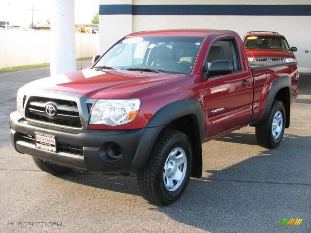 2008 impulse red pearl toyota tacoma regular cab 4x4 16330311 car color galleries. Black Bedroom Furniture Sets. Home Design Ideas