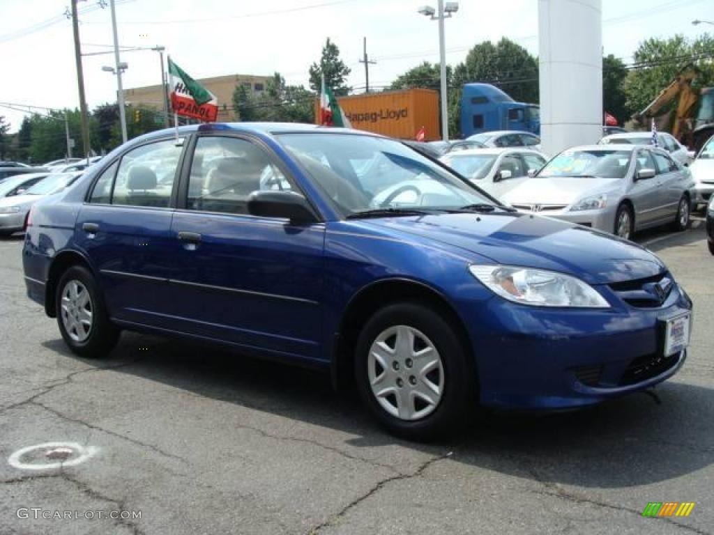 2005 fiji blue pearl honda civic value package sedan 16324746 photo 3 car. Black Bedroom Furniture Sets. Home Design Ideas