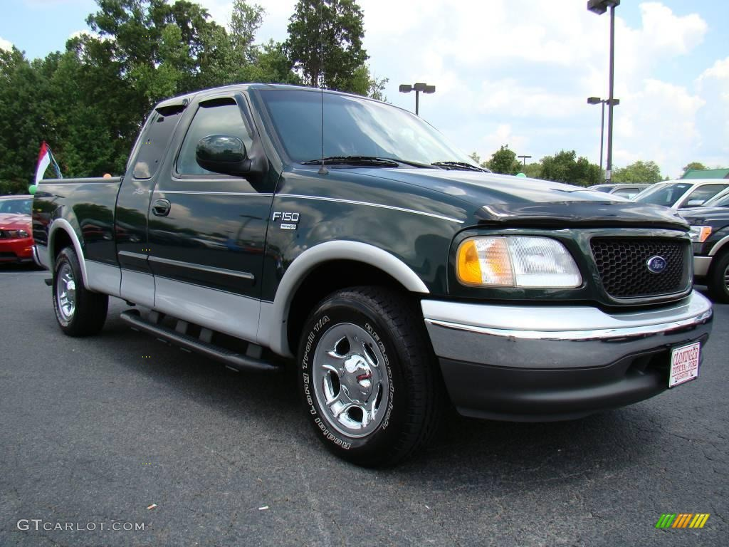2003 f150 lariat supercab dark highland green metallic medium graphite grey photo 1