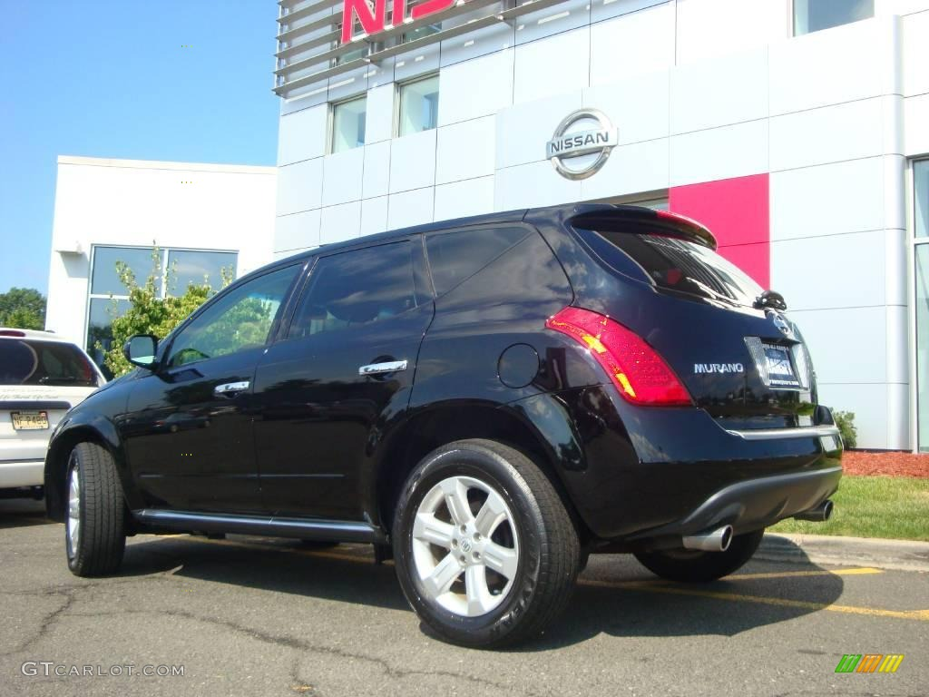 2006 Murano SL AWD - Super Black / Charcoal photo #6