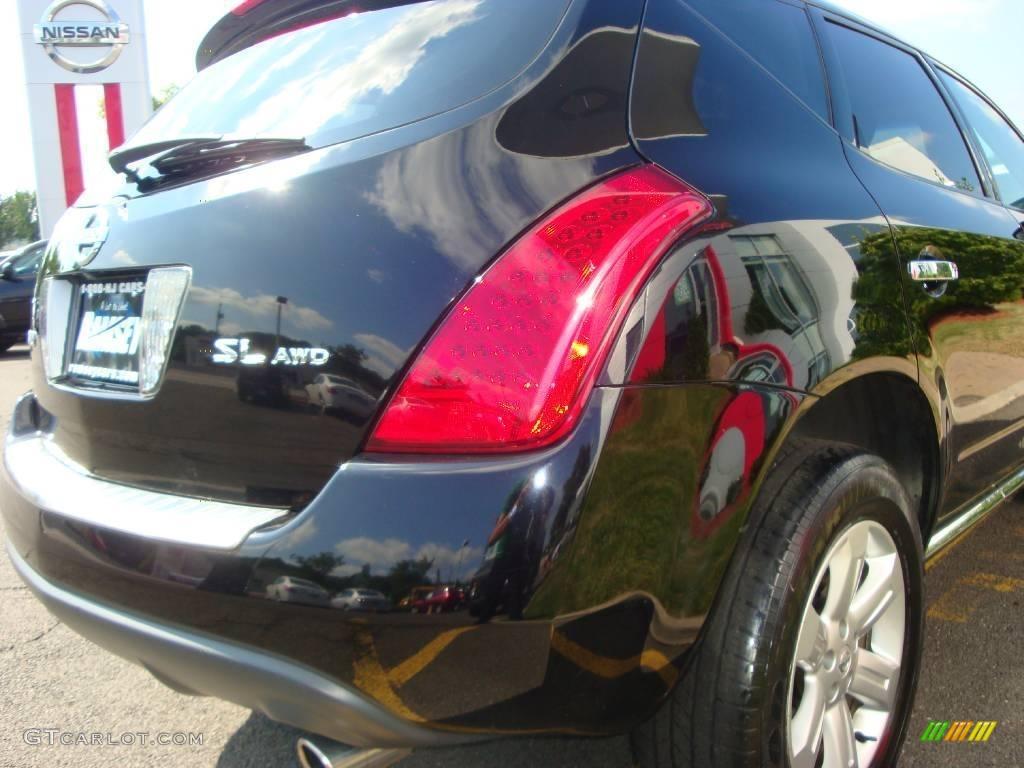 2006 Murano SL AWD - Super Black / Charcoal photo #20
