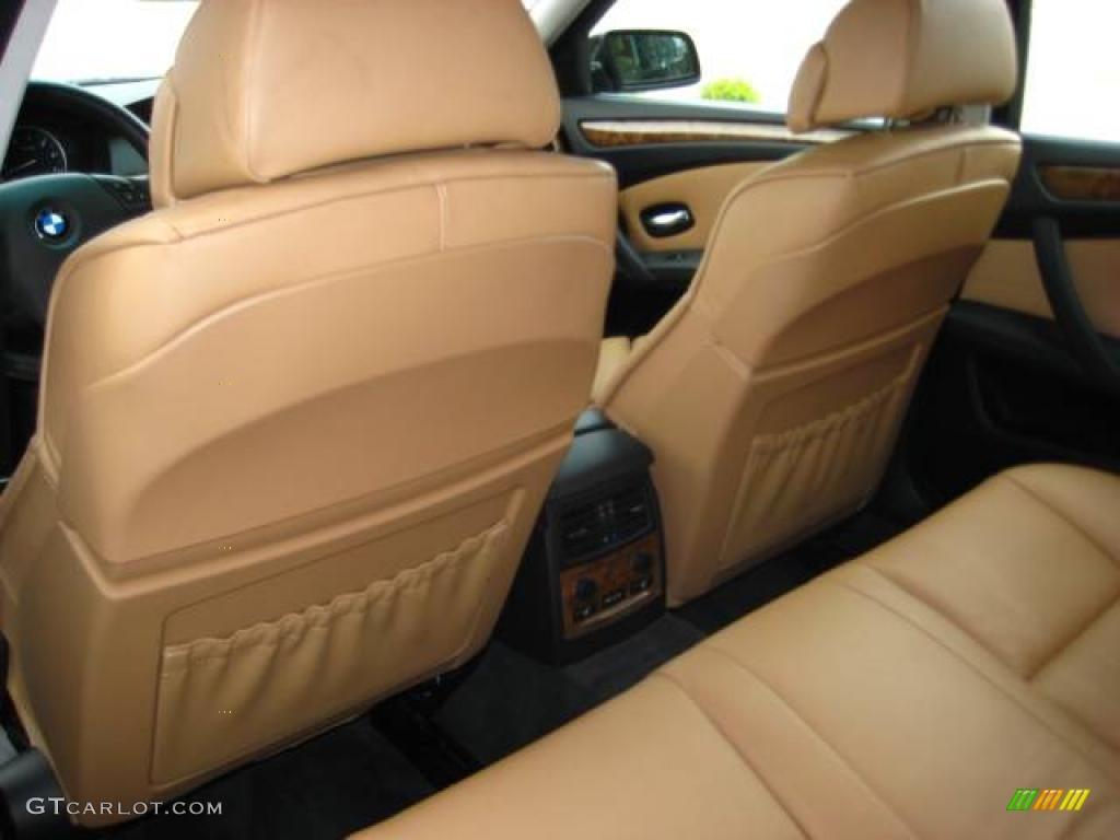 2008 5 series 535xi sports wagon black sapphire metallic natural brown dakota leather photo