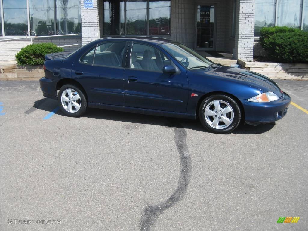 2002 indigo blue metallic chevrolet cavalier z24 sedan 16387411 gtcarlot com car color galleries gtcarlot com