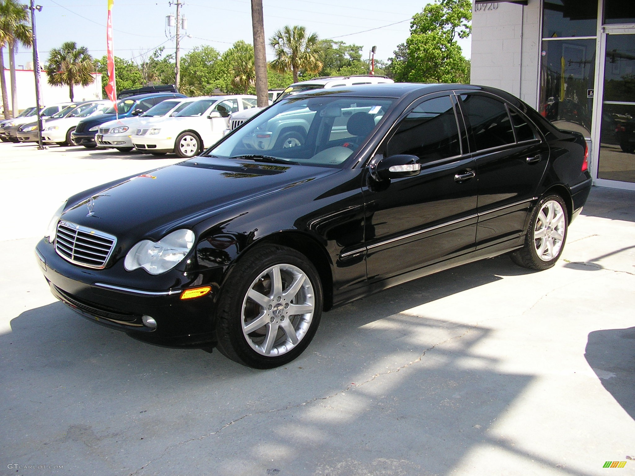 2003 black mercedes benz c 230 kompressor sedan 164038 for Mercedes benz 2003