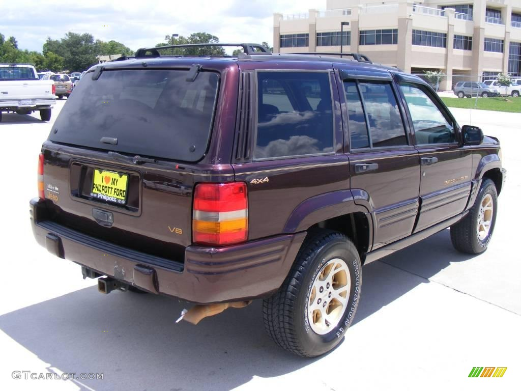 1997 dark rosewood pearl jeep grand cherokee limited 4x4 16386148 photo 3 car. Black Bedroom Furniture Sets. Home Design Ideas