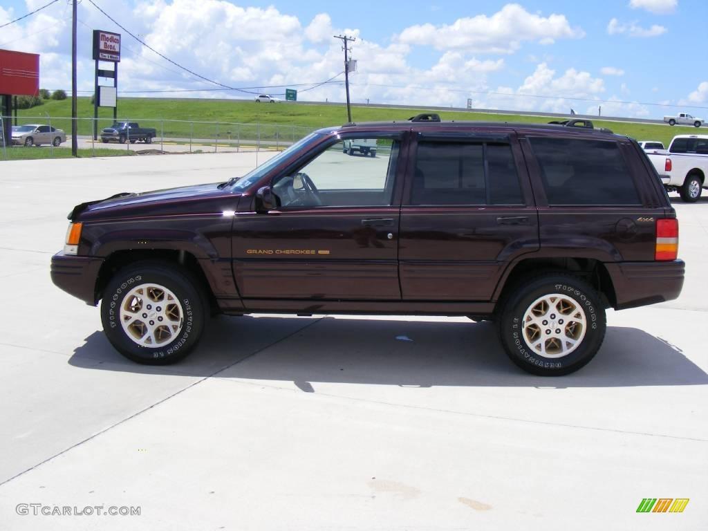 1997 Grand Cherokee Limited 4x4   Dark Rosewood Pearl / Agate Black Photo #6