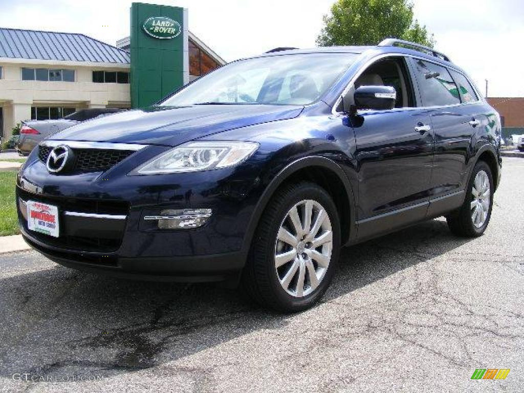 2008 stormy blue mica mazda cx 9 grand touring awd 16374279 car color galleries. Black Bedroom Furniture Sets. Home Design Ideas
