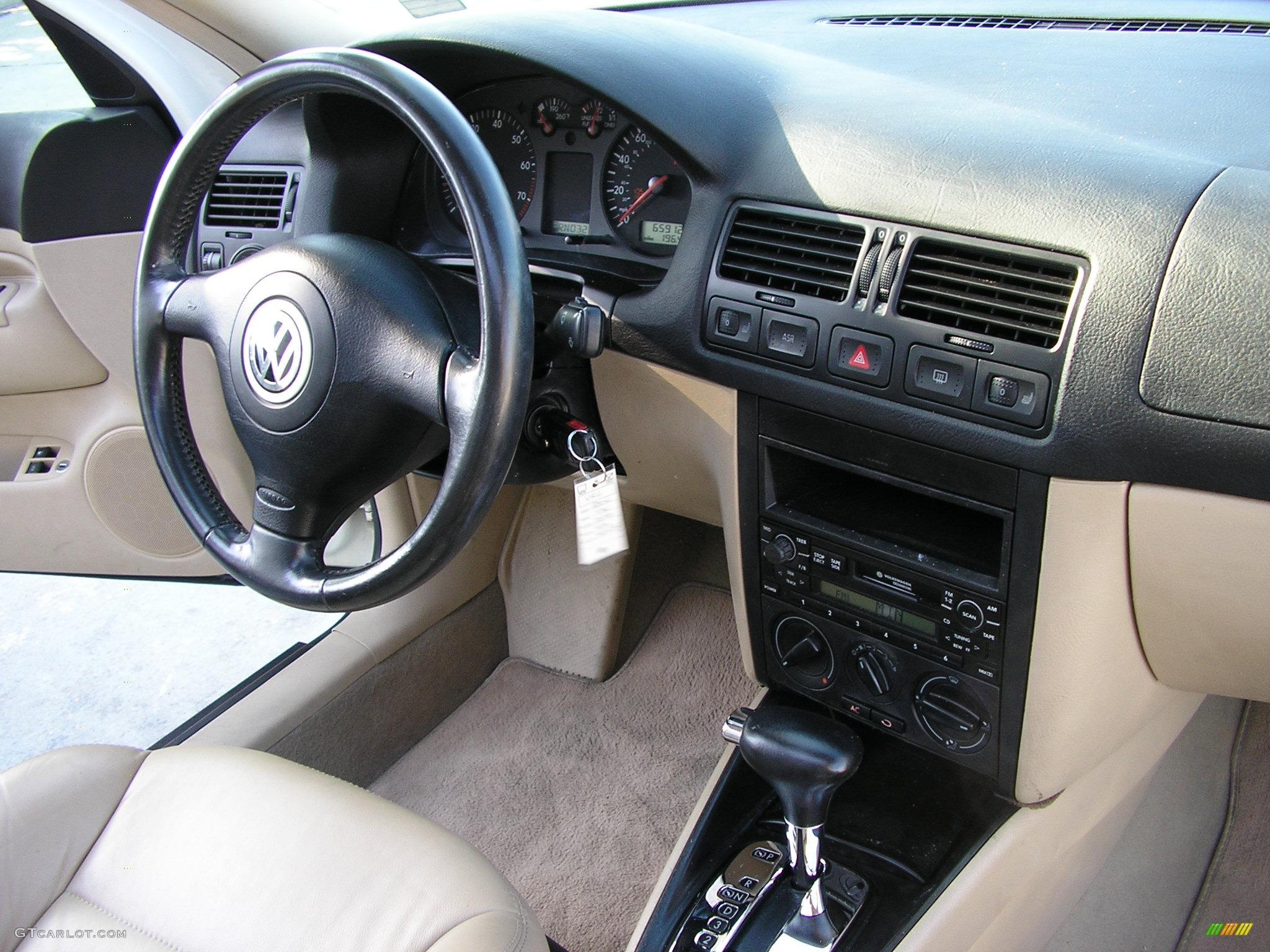 2001 Snow White Volkswagen Jetta Gls Vr6 Sedan 164157 Photo 12 Beige Leather