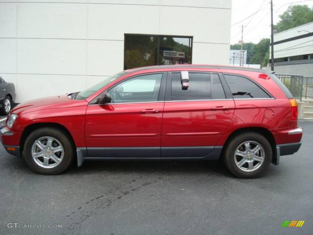 2004 inferno red pearl chrysler pacifica awd 16392378 car color galleries. Black Bedroom Furniture Sets. Home Design Ideas