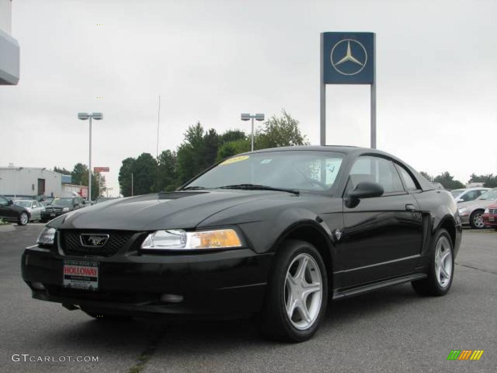 1999 ford mustang gt coupe black color medium parchment interior. Black Bedroom Furniture Sets. Home Design Ideas