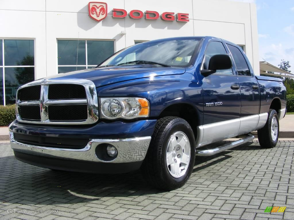 2005 patriot blue pearl dodge ram 1500 slt quad cab 16450234 gtcarlot com car color galleries
