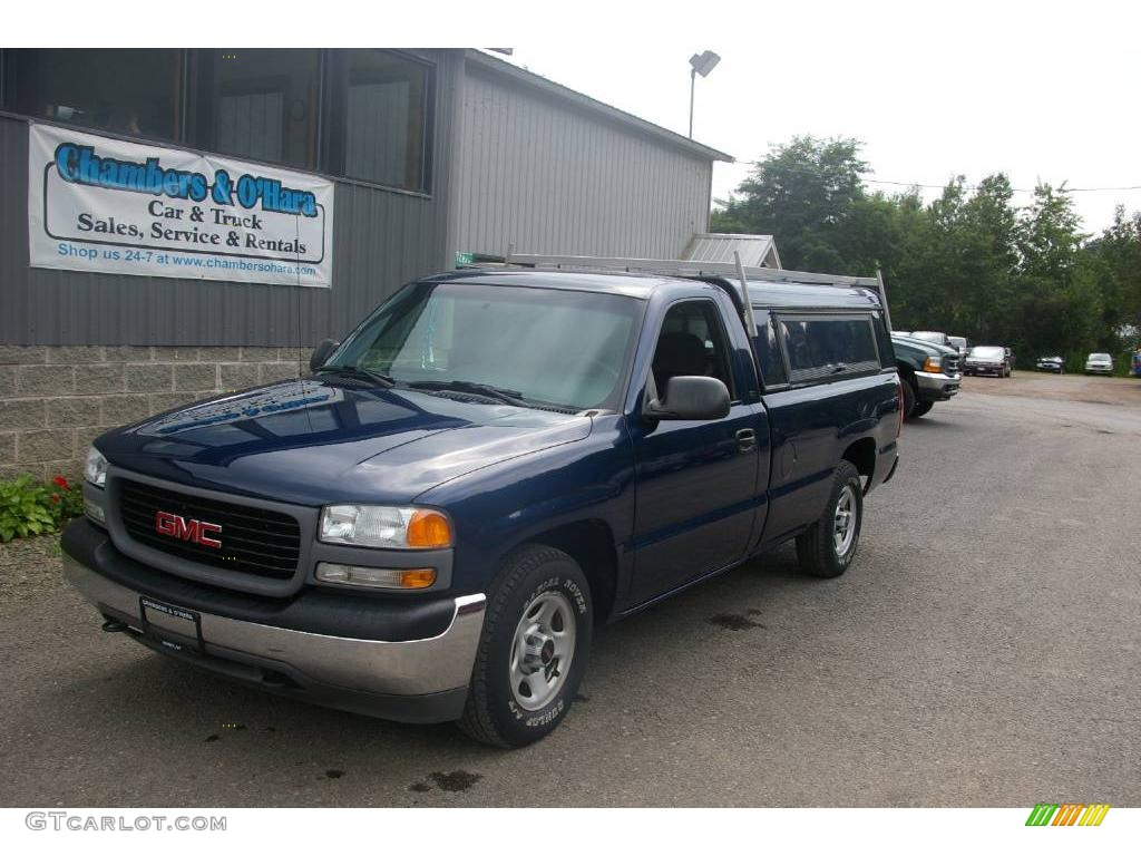 2001 indigo blue metallic gmc sierra 1500 sl regular cab 16471769 car color. Black Bedroom Furniture Sets. Home Design Ideas