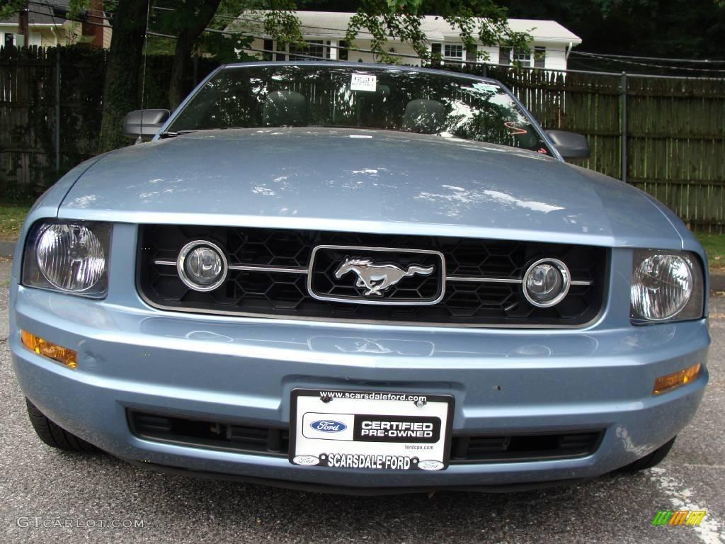 2006 Mustang V6 Premium Convertible - Windveil Blue Metallic / Dark Charcoal photo #1
