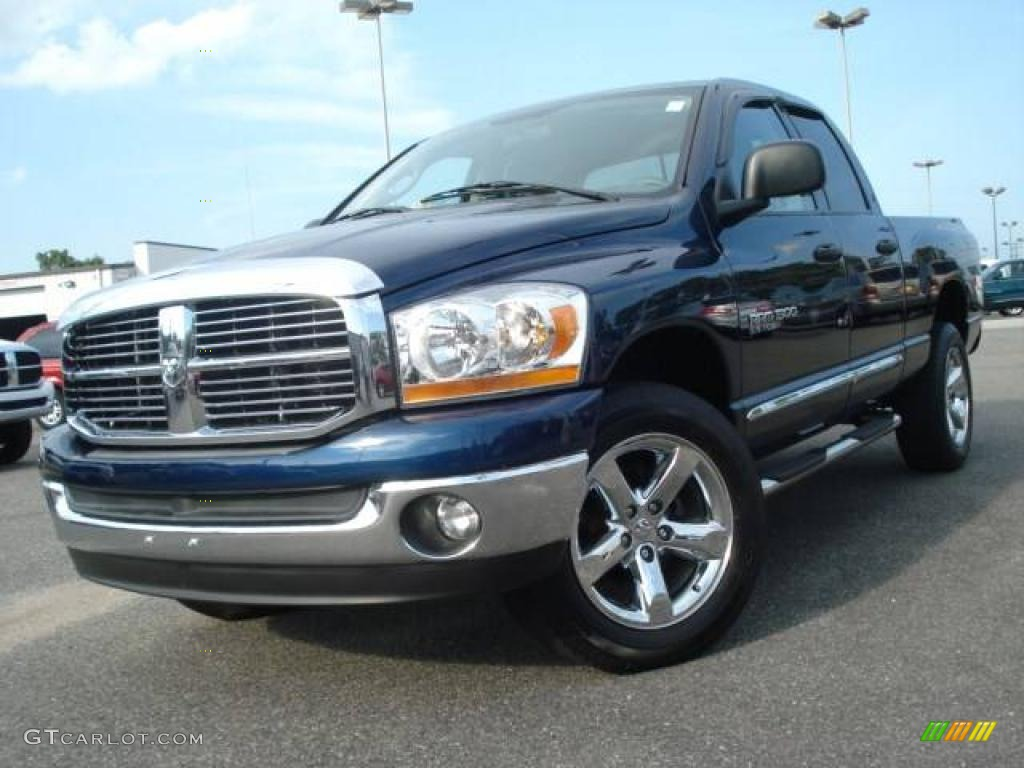 2006 dodge ram 1500 big horn edition quad cab 4x4 patriot blue pearl. Black Bedroom Furniture Sets. Home Design Ideas