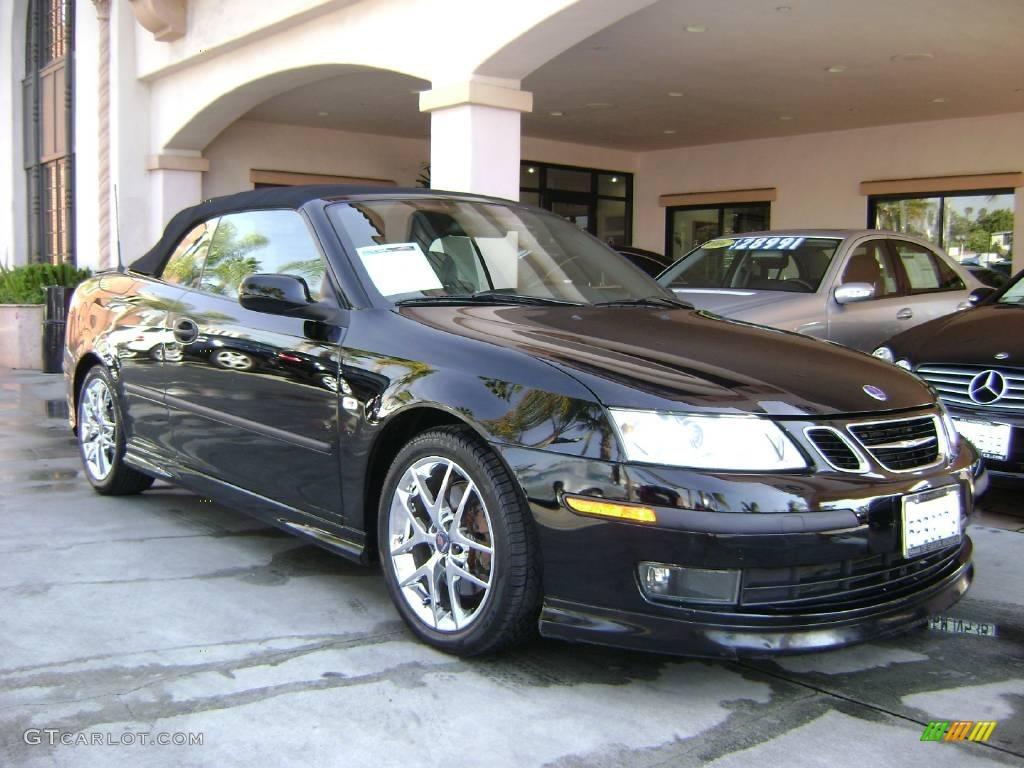 2005 black saab 9 3 aero convertible 1648296 gtcarlot. Black Bedroom Furniture Sets. Home Design Ideas