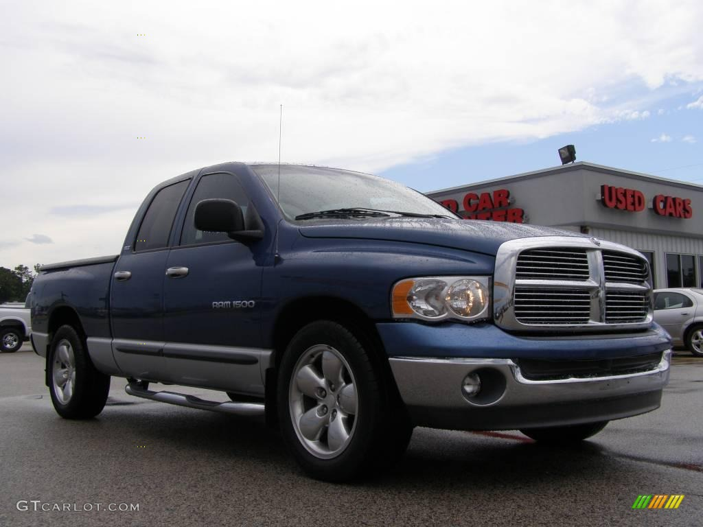 2002 Ram 1500 SLT Quad Cab - Atlantic Blue Pearl / Taupe photo #1