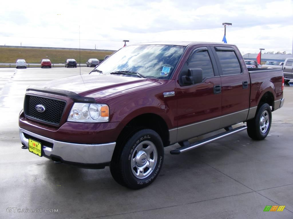 2006 dark toreador red metallic ford f150 xlt supercrew. Black Bedroom Furniture Sets. Home Design Ideas