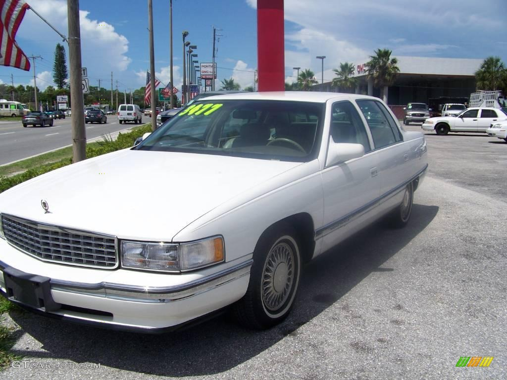 1994 White Diamond Cadillac Deville Sedan