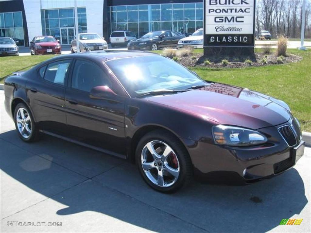 2006 dark cherry metallic pontiac grand prix gxp sedan 16581074 car color. Black Bedroom Furniture Sets. Home Design Ideas