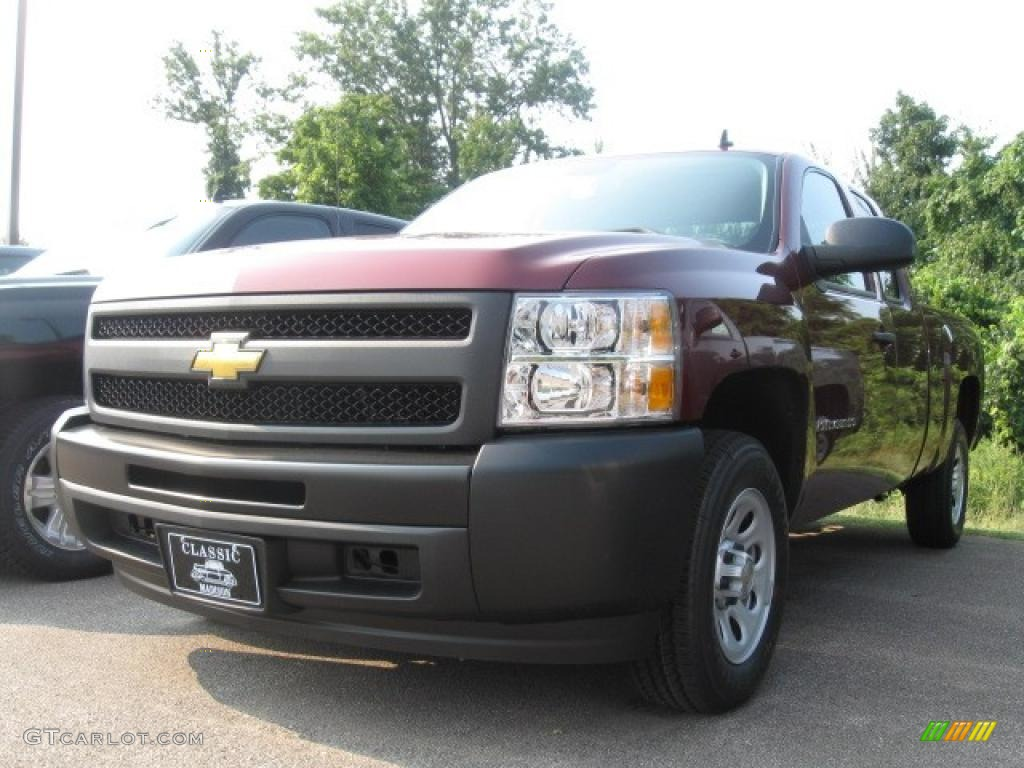 2009 Silverado 1500 Extended Cab - Deep Ruby Red Metallic / Dark Titanium photo #1