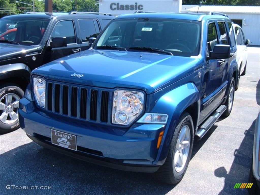 2009 deep water blue pearl jeep liberty rocky mountain edition 4x4