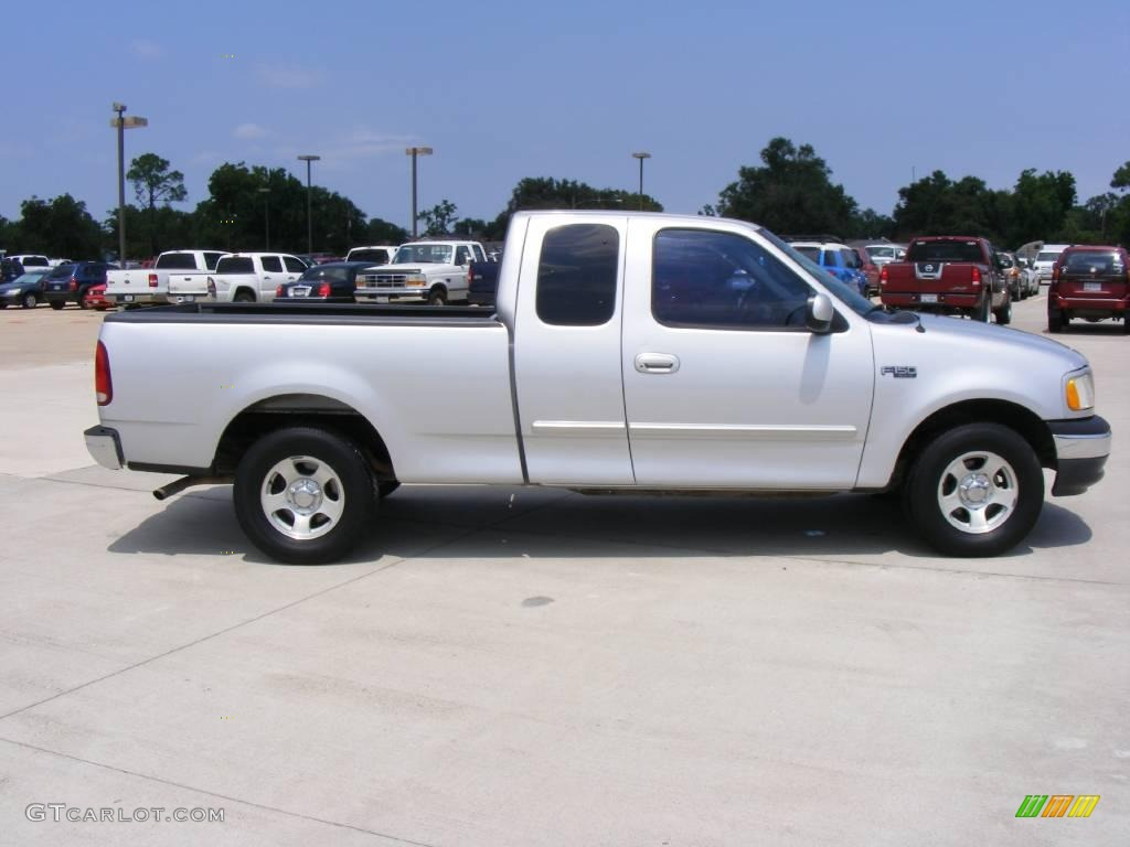 1999 silver metallic ford f150 xlt extended cab 16683104 photo 2 car color. Black Bedroom Furniture Sets. Home Design Ideas