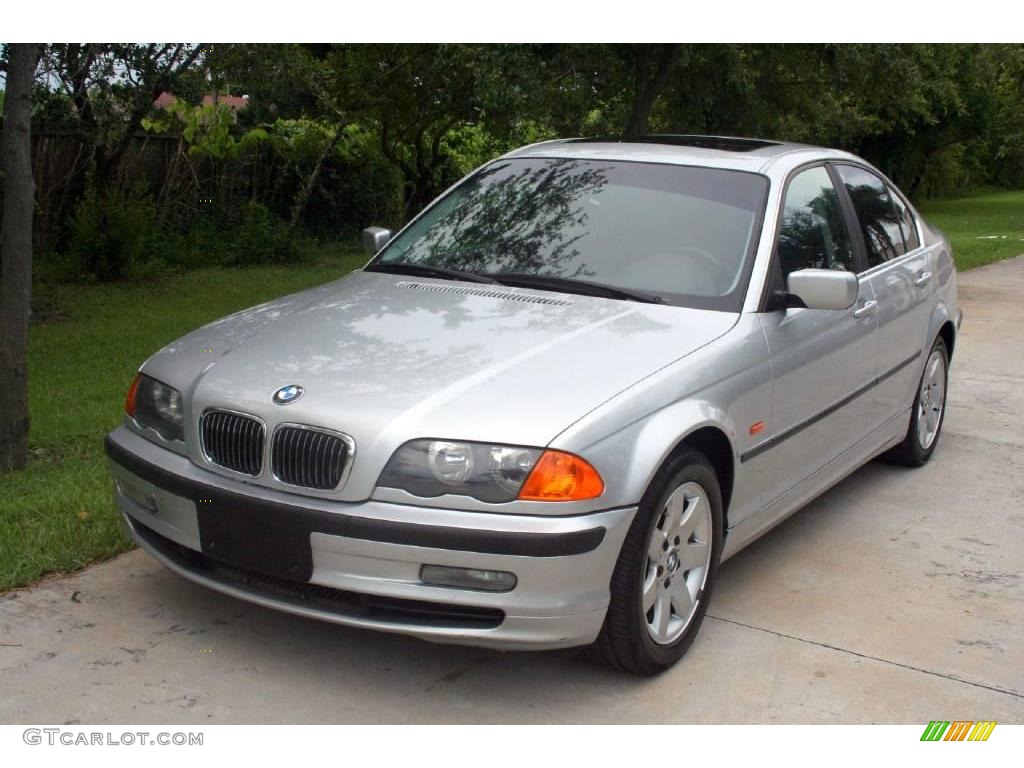 2000 titanium silver metallic bmw 3 series 328i sedan 16756396 car color galleries. Black Bedroom Furniture Sets. Home Design Ideas