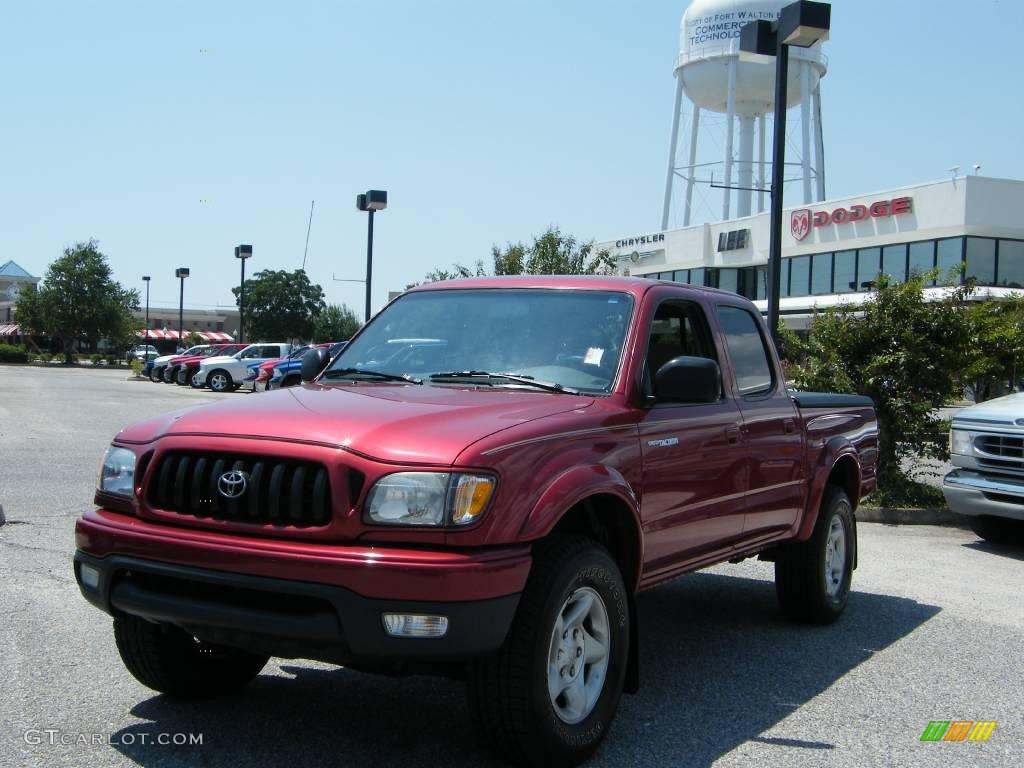 2003 impulse red pearl toyota tacoma v6 prerunner double cab 16752616 car. Black Bedroom Furniture Sets. Home Design Ideas