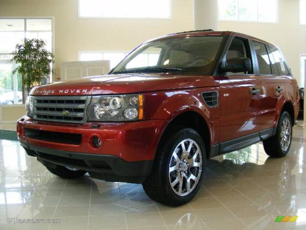 2009 rimini red metallic land rover range rover sport hse. Black Bedroom Furniture Sets. Home Design Ideas
