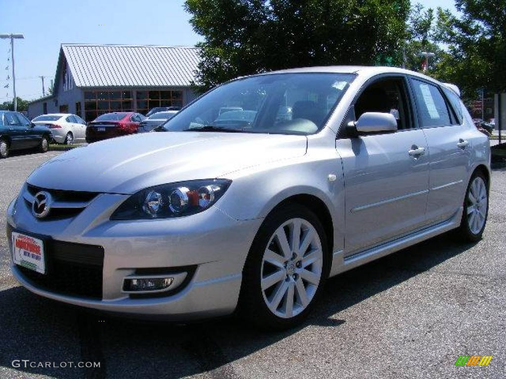 2007 sunlight silver metallic mazda mazda3 mazdaspeed3 grand touring 16746327. Black Bedroom Furniture Sets. Home Design Ideas