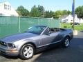 2007 Tungsten Grey Metallic Ford Mustang V6 Premium Convertible  photo #6