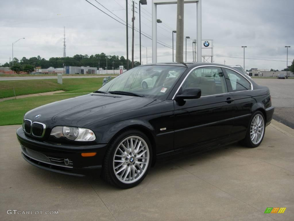 2003 3 series 330i coupe jet black natural brown photo 1