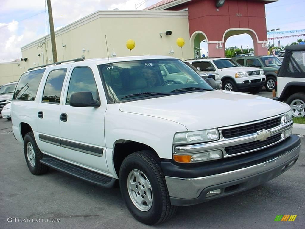 2004 summit white chevrolet suburban 1500 lt 16845520. Black Bedroom Furniture Sets. Home Design Ideas
