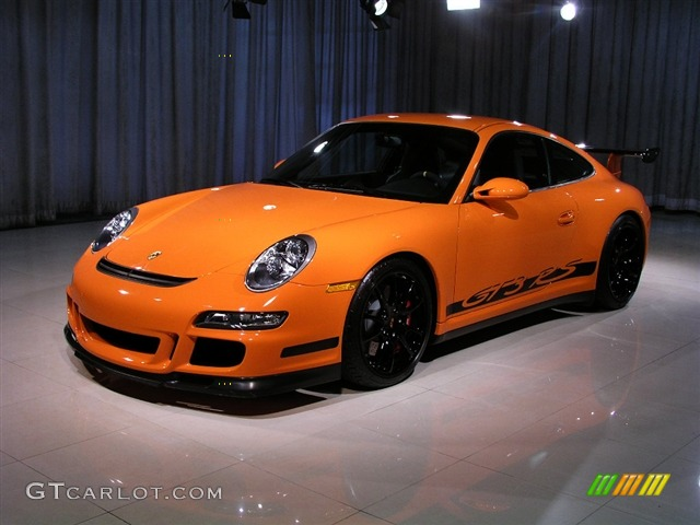 2008 911 GT3 RS - Orange / Black photo #1