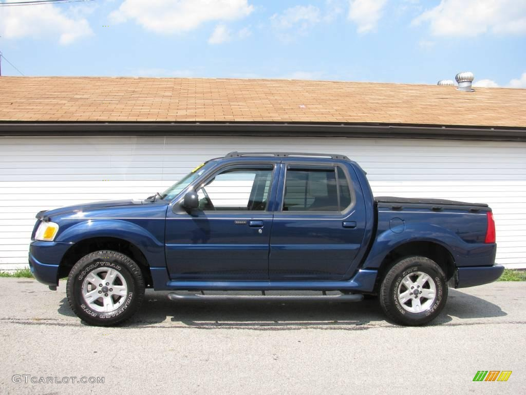 Dark blue pearl metallic ford explorer sport trac
