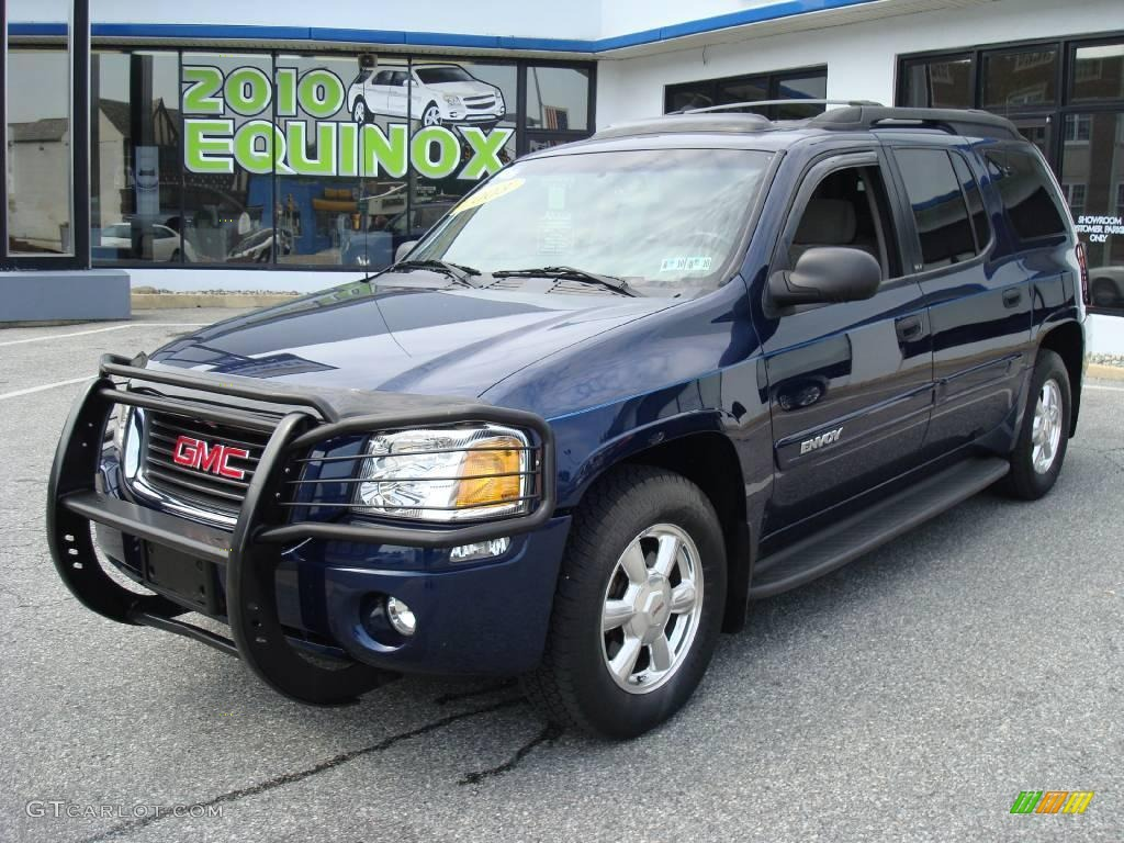 2003 indigo blue metallic gmc envoy xl sle 4x4 16842187. Black Bedroom Furniture Sets. Home Design Ideas